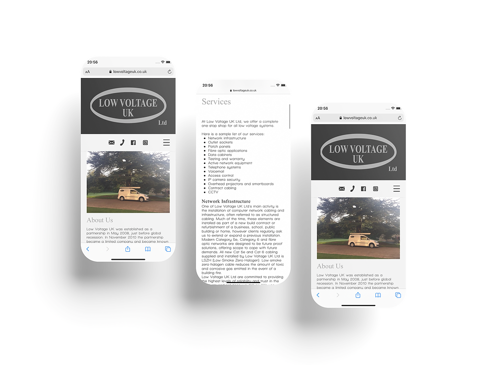 Low Voltage UK Mobile Web Design   Little Pixel Creative   Graphic Design Oxfordshire