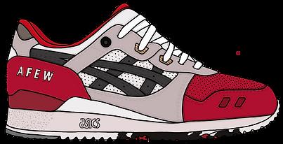 Asics Gel Lyte III Koi Sneaker, Illustration | Little Pixel Creative | Graphic Design Oxfordshire