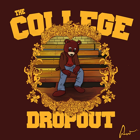 Kanye West The College Dropout, Illustration | Little Pixel Creative | Graphic Design Oxfordshire