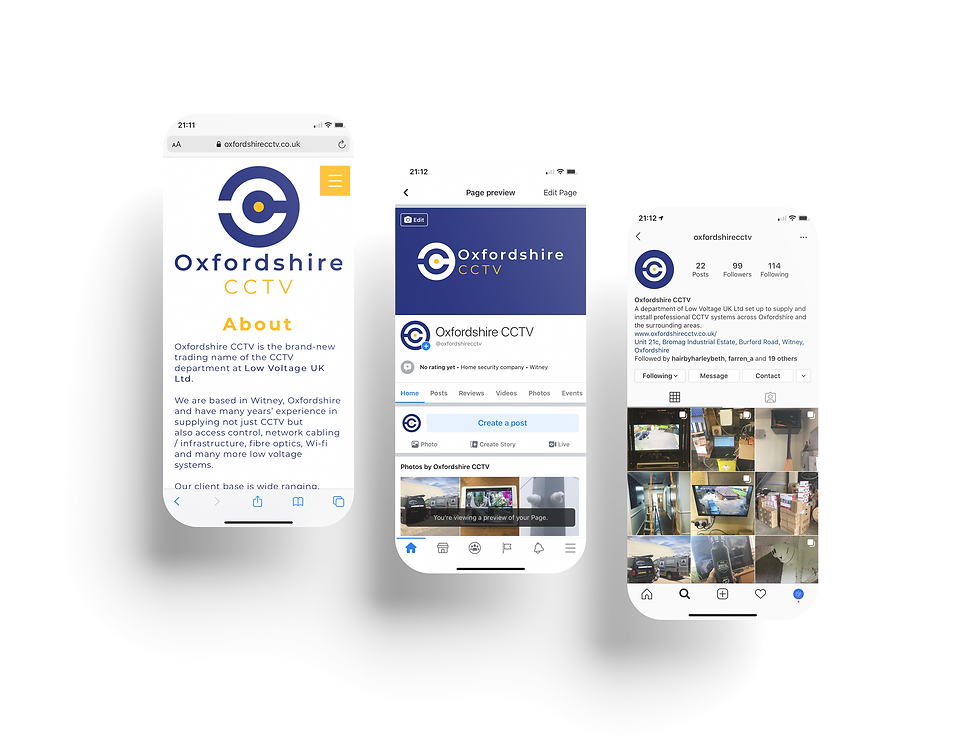 Oxforshire CCTV Mobile Web Design | Little Pixel Creative | Graphic Design Oxfordshire