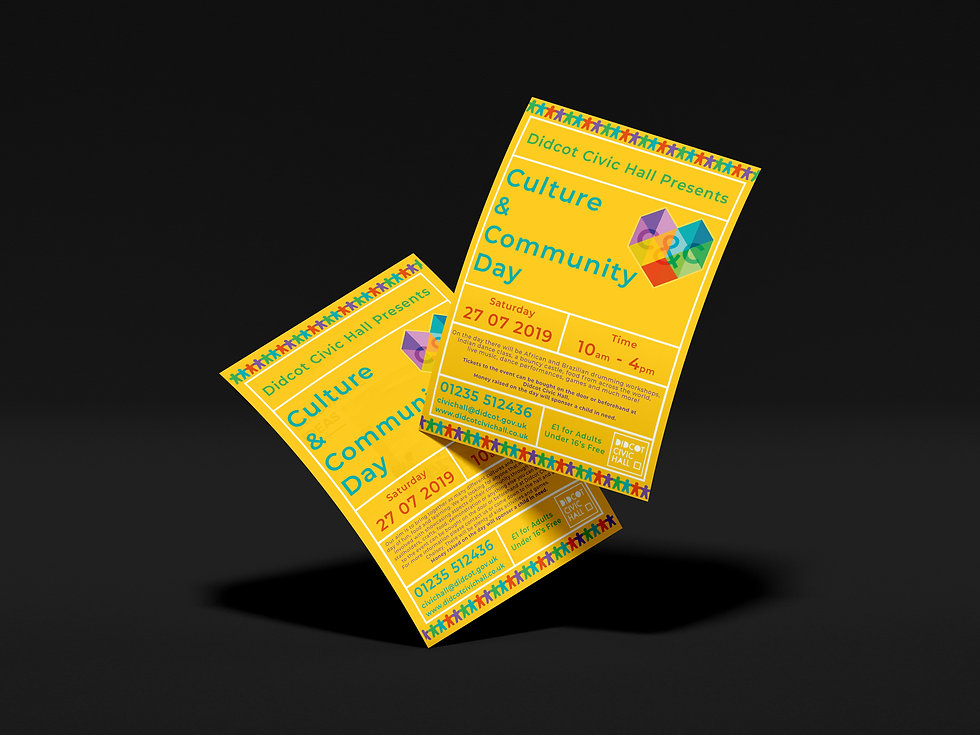 Didcot Civic Hall Flyers, Print Design | Little Pixel Creative | Graphic Design Oxfordshire