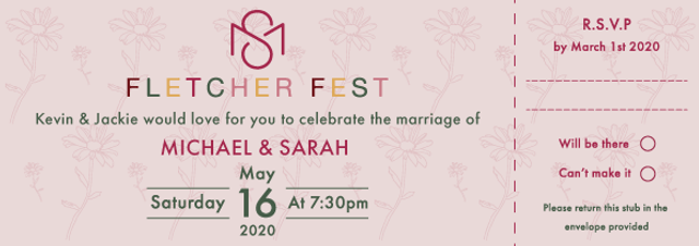 Wedding Invite, Illustration | Little Pixel Creative | Graphic Design Oxfordshire