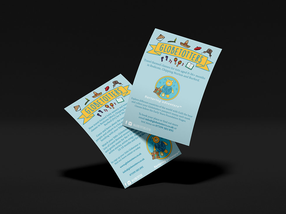 Globetotters Flyers, Print Design | Little Pixel Creative | Graphic Design Oxfordshire