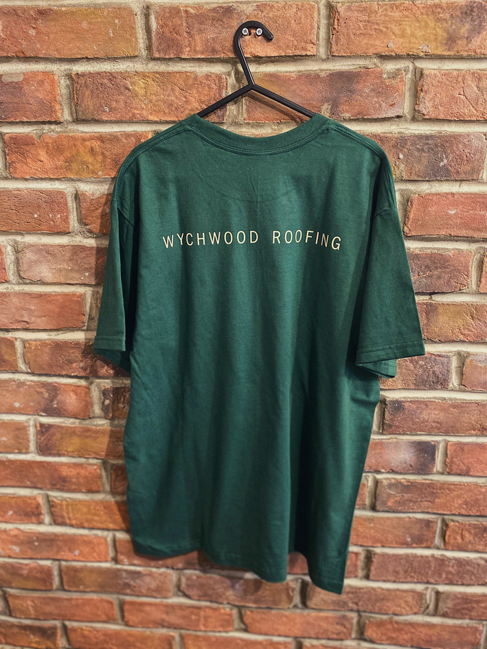 Wychwood Roofing Uniform, Print Design | Little Pixel Creative | Graphic Design Oxfordshire