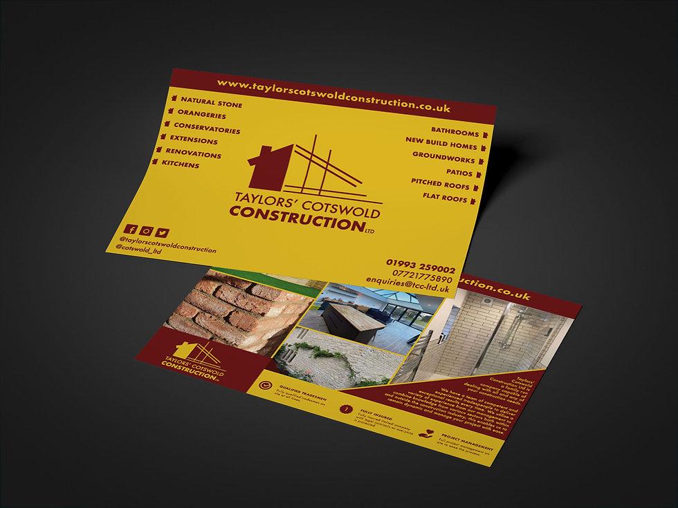 Taylors' Cotswold Construction Flyers, Print Design | Little Pixel Creative | Graphic Design Oxfordshire