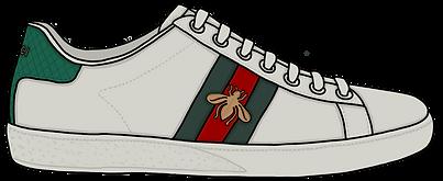 Gucci Ace Sneaker, Illustration | Little Pixel Creative | Graphic Design Oxfordshire