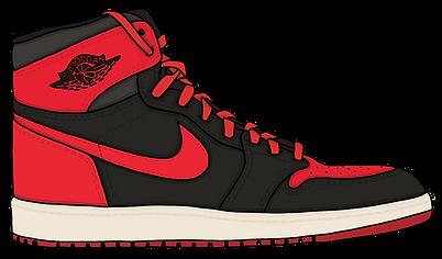 Jordan Bred Sneaker, Illustration | Little Pixel Creative | Graphic Design Oxfordshire
