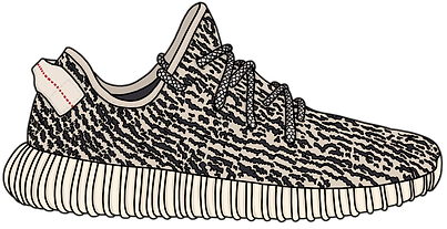 Yeezy Turtle Dove Sneaker, Illustration | Little Pixel Creative | Graphic Design Oxfordshire