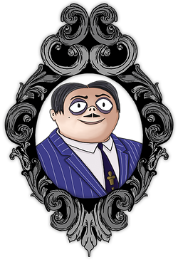 Addams Family Illustration | Little Pixel Creative | Graphic Design Oxfordshire