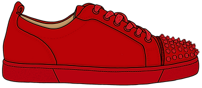 Louboutin Junior Spike Sneaker, Illustration | Little Pixel Creative | Graphic Design Oxfordshire