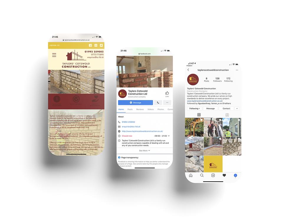Taylor' Cotswold Construction Mobile Web Design   Little Pixel Creative   Graphic Design Oxfordshire