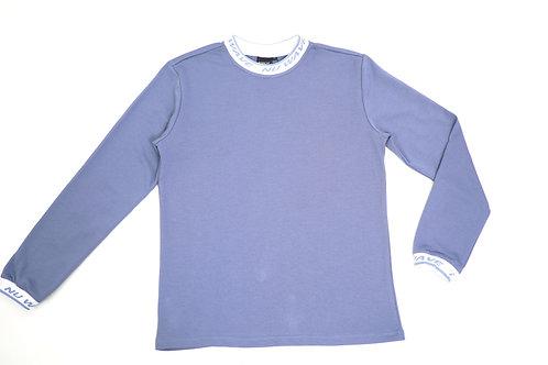 Lt Blue Logo Collar Shirt