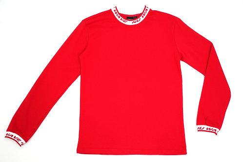 Red Logo Collar Shirt