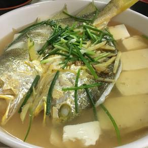 老酒蒸黃魚