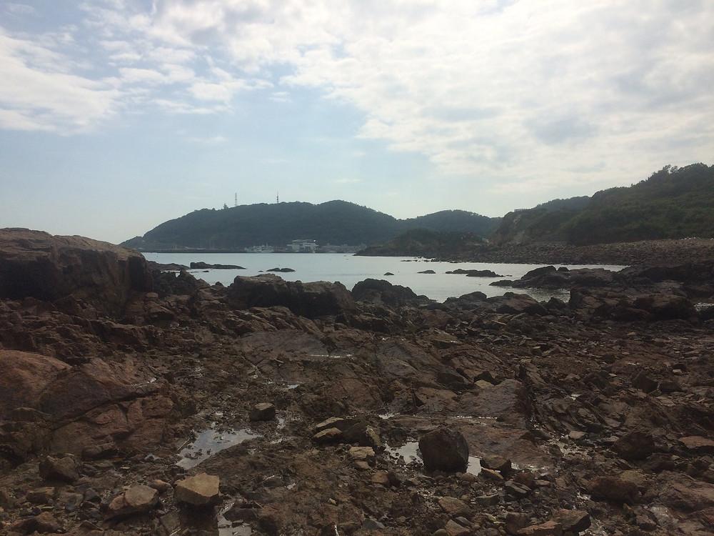 水沰(退潮)後的珠螺灣