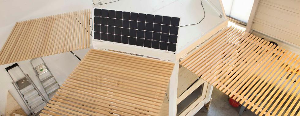Déploiement des panneaux solaires