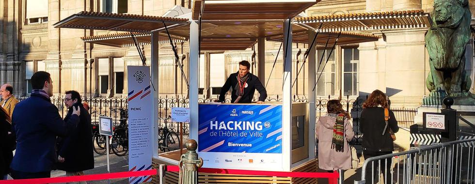 Kiosque hacking hotel de ville