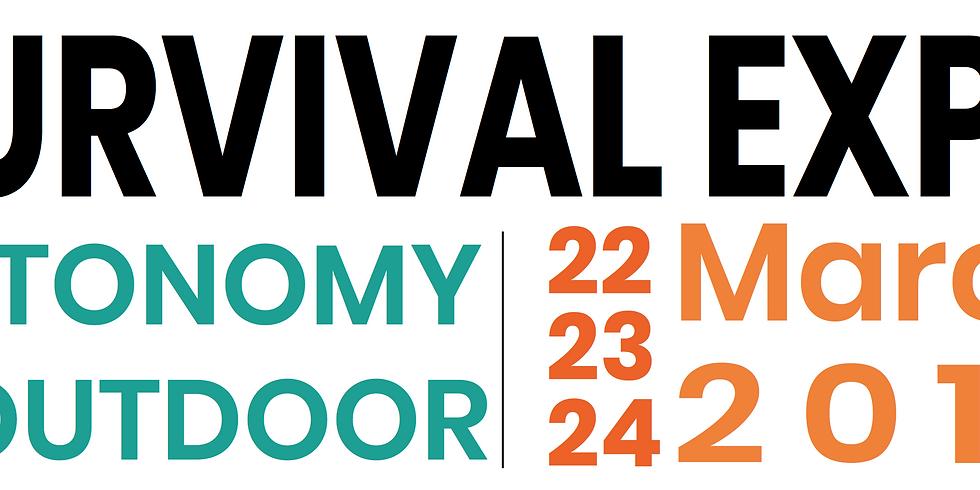 Kiosque pour le point info du Survival Expo !