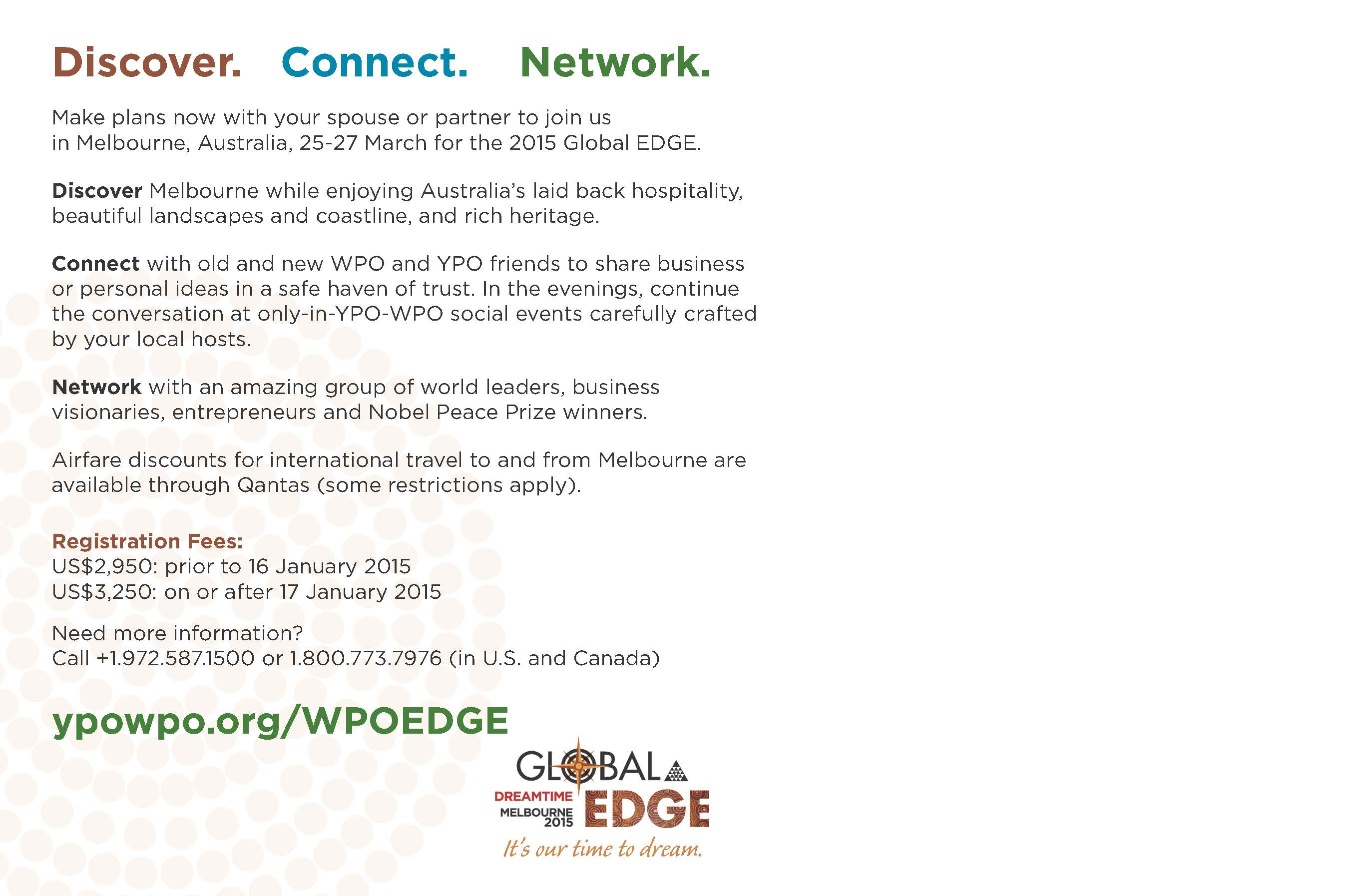 Global EDGE Melbourne postcard