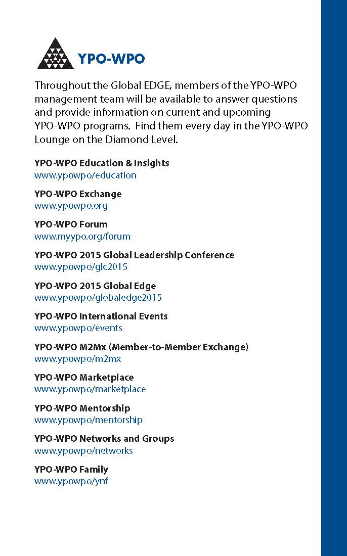 YPO-WPO Global EDGE Guide