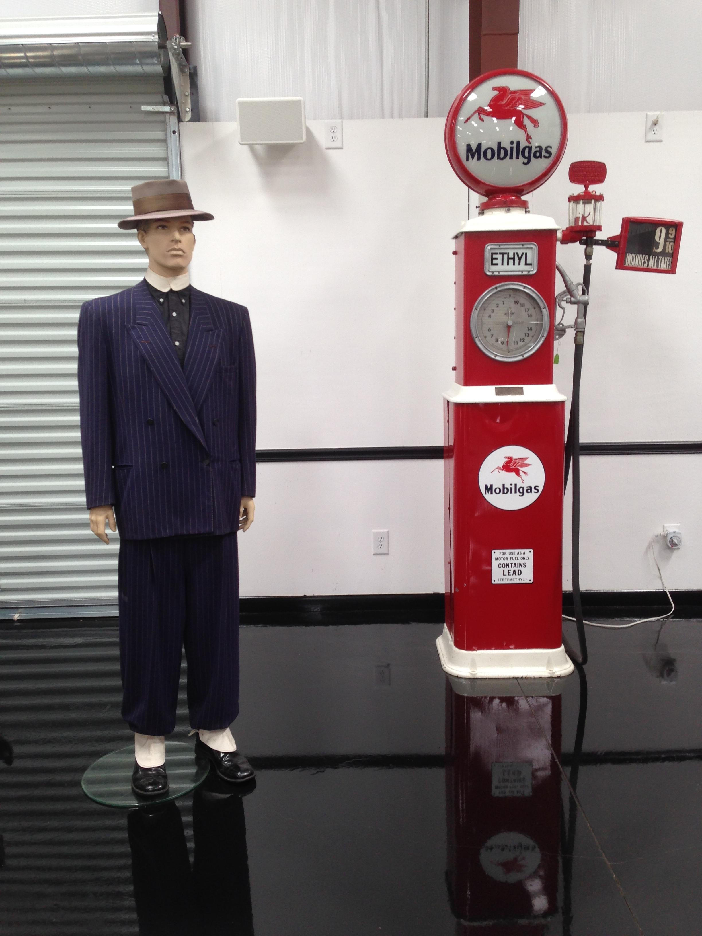 1940's Zoot Suit & Mobile Gas pump