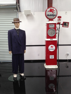 1940's Zoot Suit & Mobile Gas pump