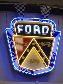 Classic Ford Neon Dealership Sign