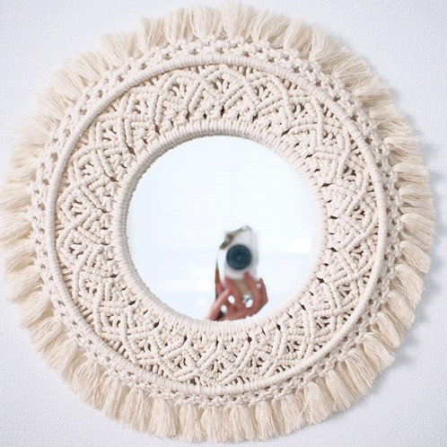 Small round mirror -sunflower-