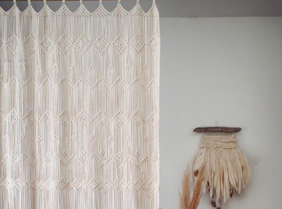 macraeme curtain