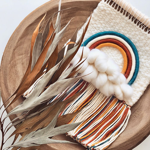 weaving mixed fringe tapestry -moroccan-