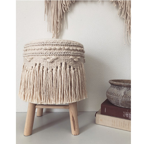 handwoven stool