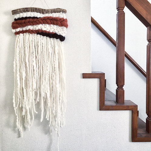 small tapestry - black x brown-