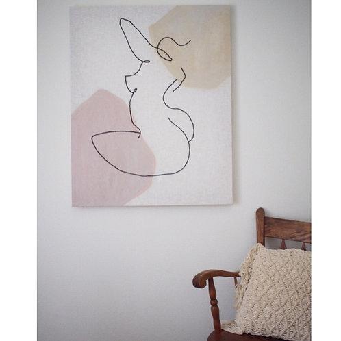 line art of a woman XL