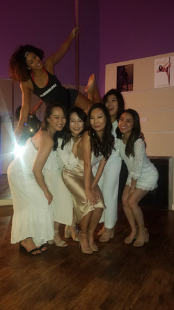 another happy pole party bridal party