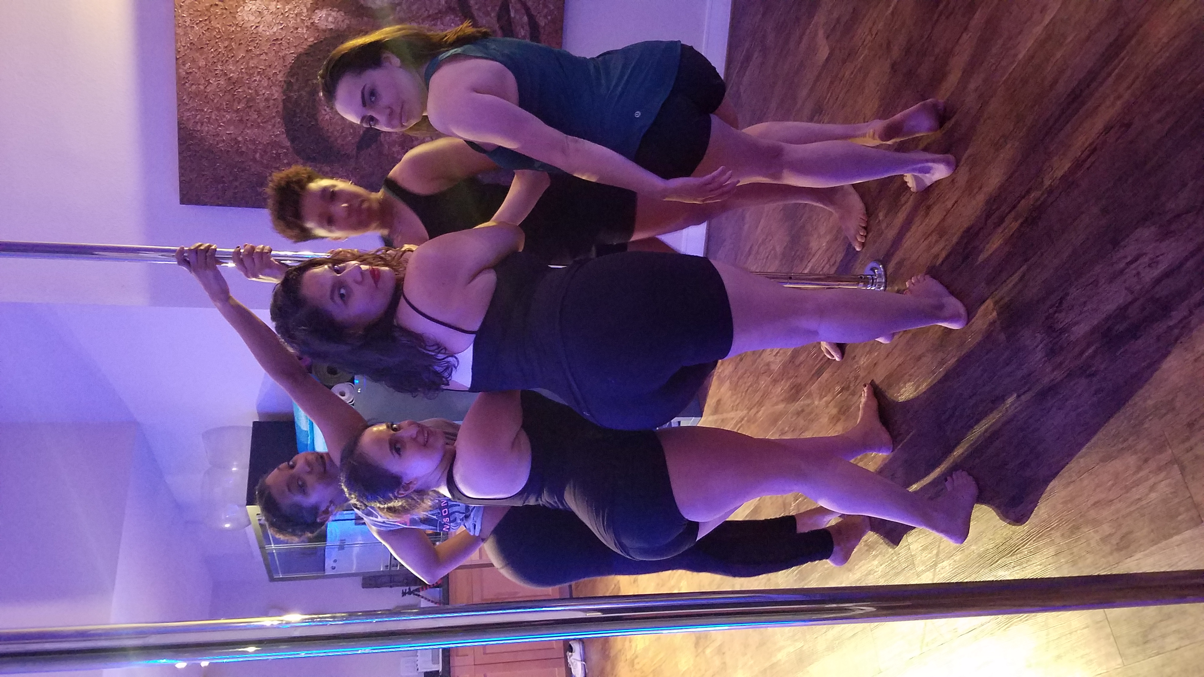 another happy pole party group