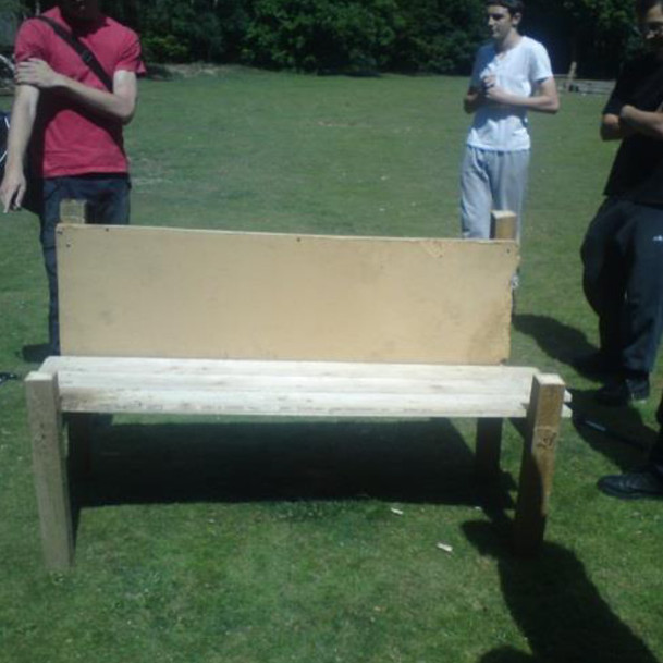 One of the chairs created from the challenge