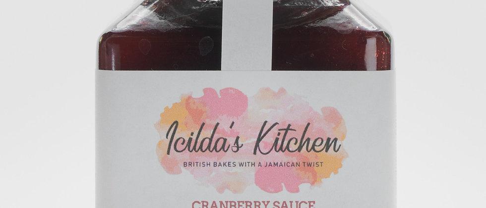 Cranberry Sauce with spiced rum & Scotch Bonnet Chilli