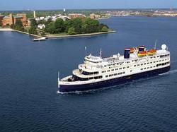 Small Cruise Ship, 294 Passengers -
