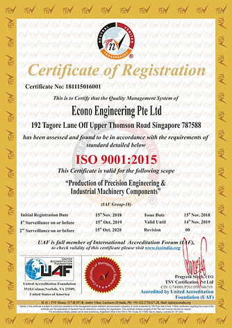 Econo Engineering Pte Ltd (2)ISO 9001 Ce