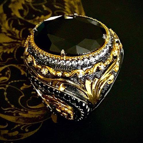 Black Onix Stone Ring