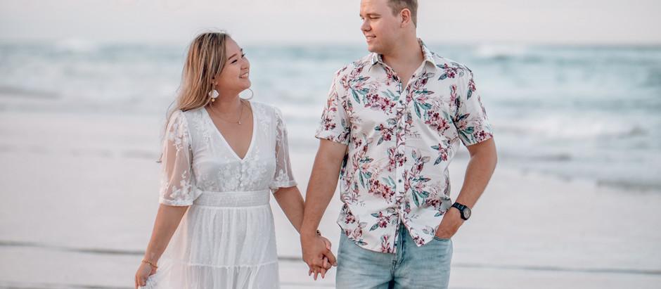 Mabel + Duncan - Gold Coast Beach Engagement Photoshoot