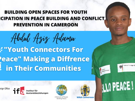 Meet Abdul Aziz Adamu, A WAA Cameroon Connector For Peace