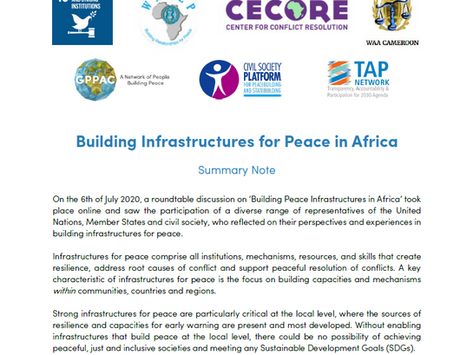 Building Infrastructures for Peace in Africa