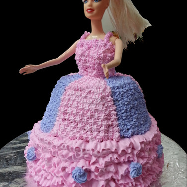 Barbie Theme Cake