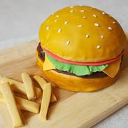 Burger Theme Cake