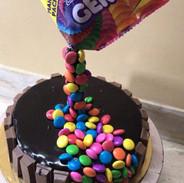 Gravity Theme Cake - Chocolate