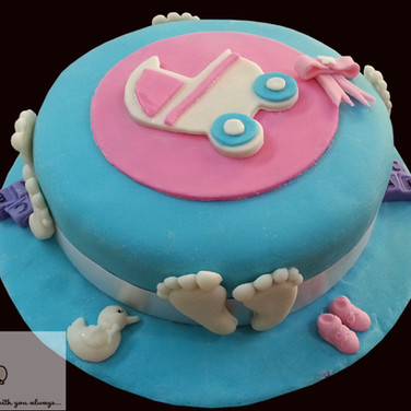 Baby Shower Theme Fondant Cake