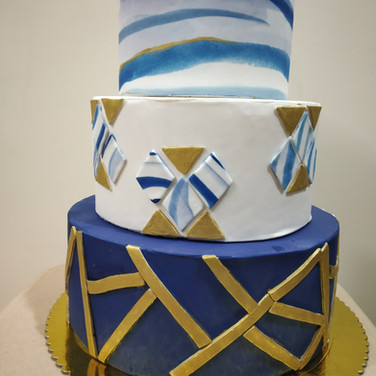 Marbled effect Wedding cake