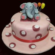 Elephant Theme Fondant Cake