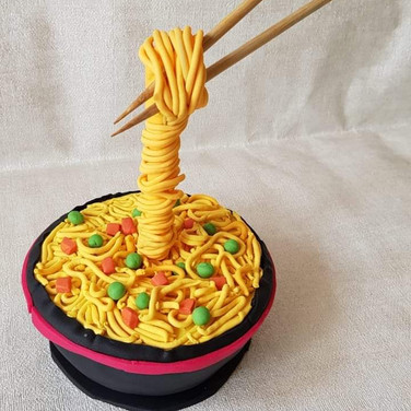 Gravity Theme Cake - Noodles